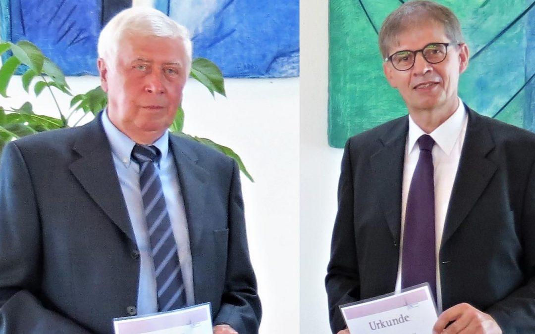 Boris Bohr und Wolfgang Dinger zu Ehrenpresbytern ernannt